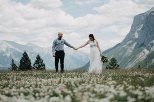 Banff Elopement Photographer, Banff Elopement, Banff Wedding, Banff Summer Wedding, Rocky Mountain Bride, Calgary Wedding Photographer, Calgary Wedding, Mountain Elopement, Mountain Wedding