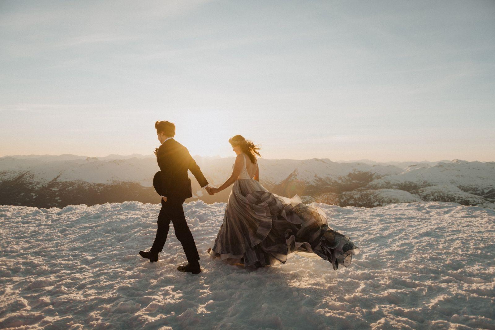 scenic winter wedding in whistler