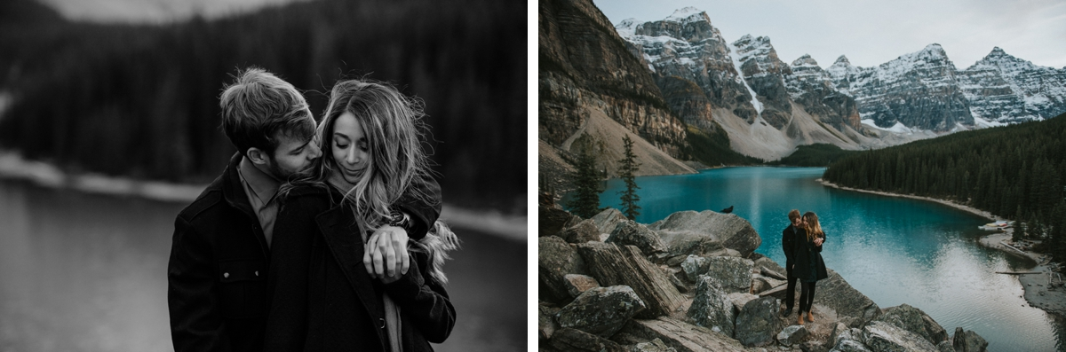 Moraine Lake Engagement Session, Moraine Lake Wedding, Moraine Lake Wedding Photography, Banff Wedding Photography, Banff Wedding Photographer
