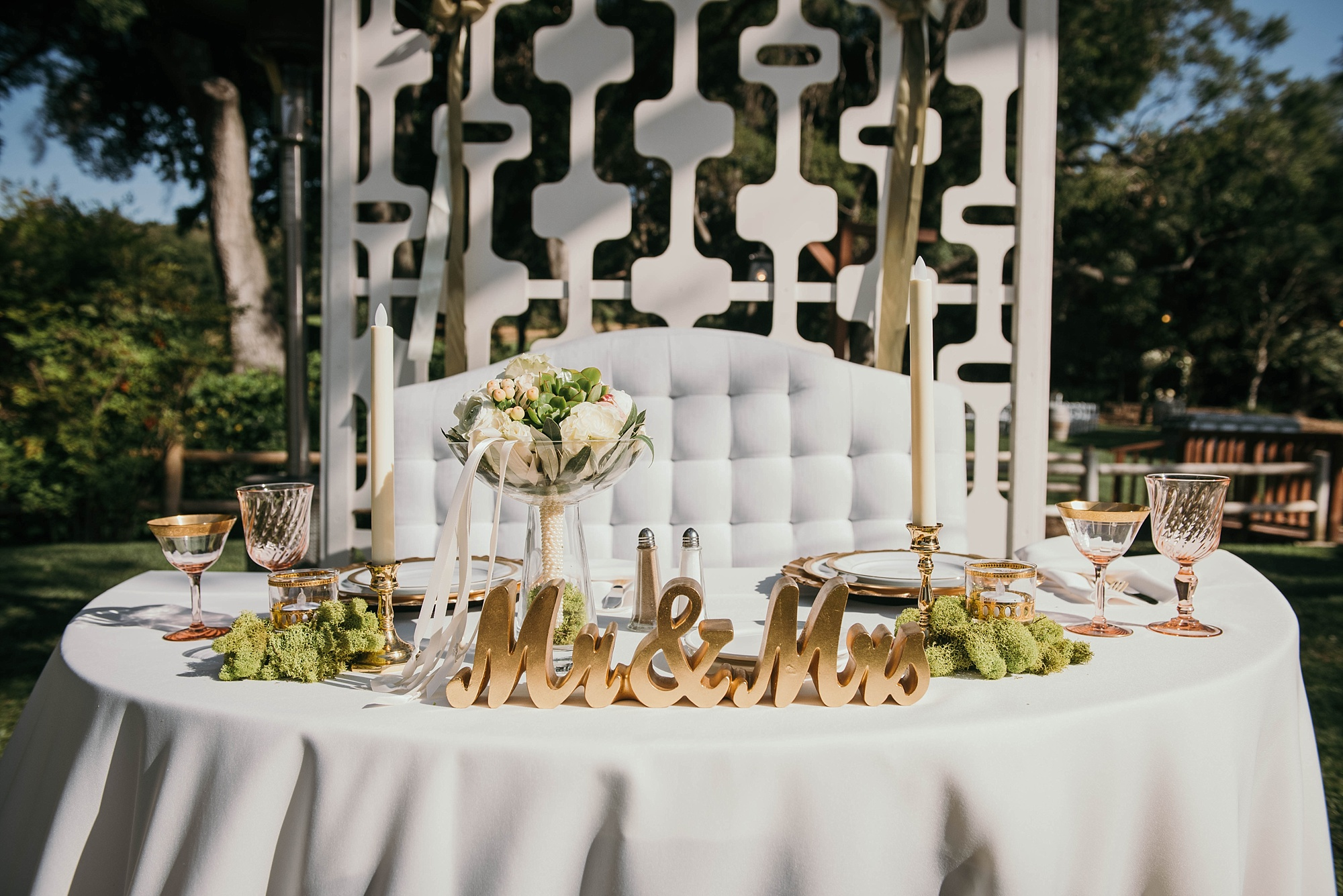 Beautifully styled classic and modern reception decor