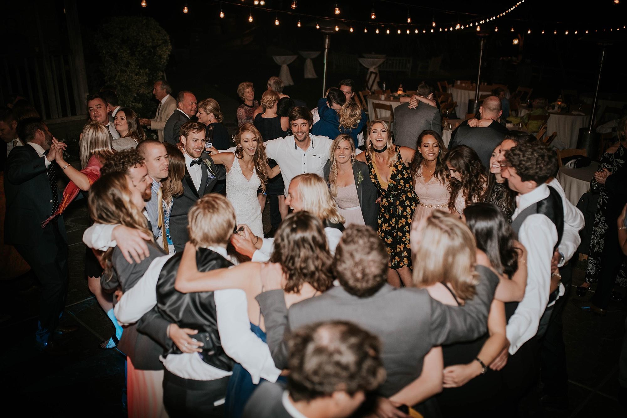 Dance party kicks off at temcula creek inn wedding in california