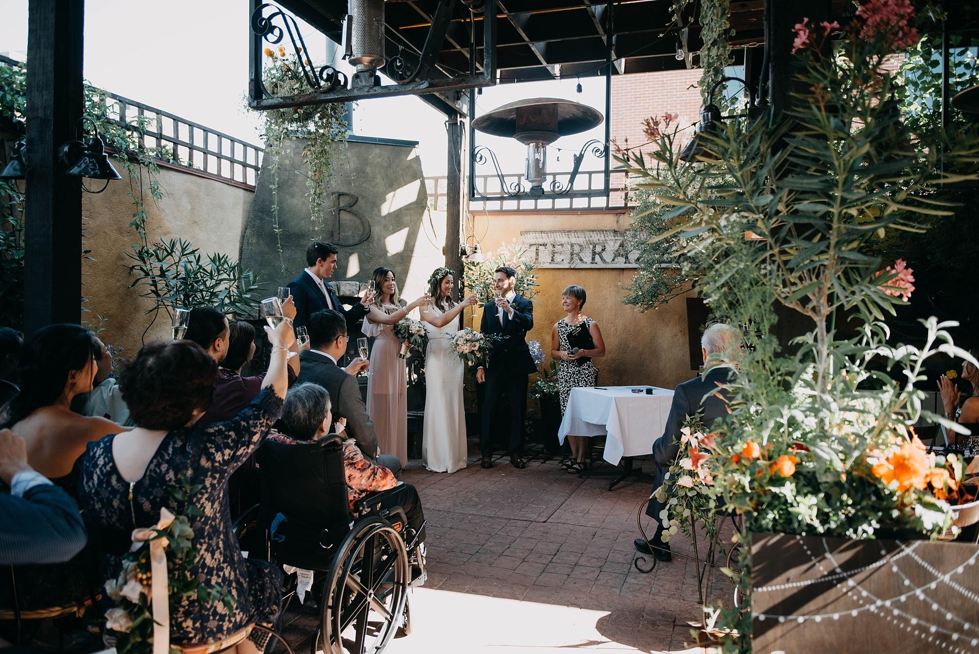 terrace ceremony during calgary bonterra wedding
