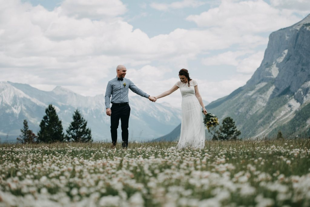 Banff Elopement Photographer, Banff Elopement, Banff Wedding, Banff Summer Wedding, Rocky Mountain Bride, Calgary Wedding Photographer, Calgary Wedding, Mountain Elopement, Mountain Wedding