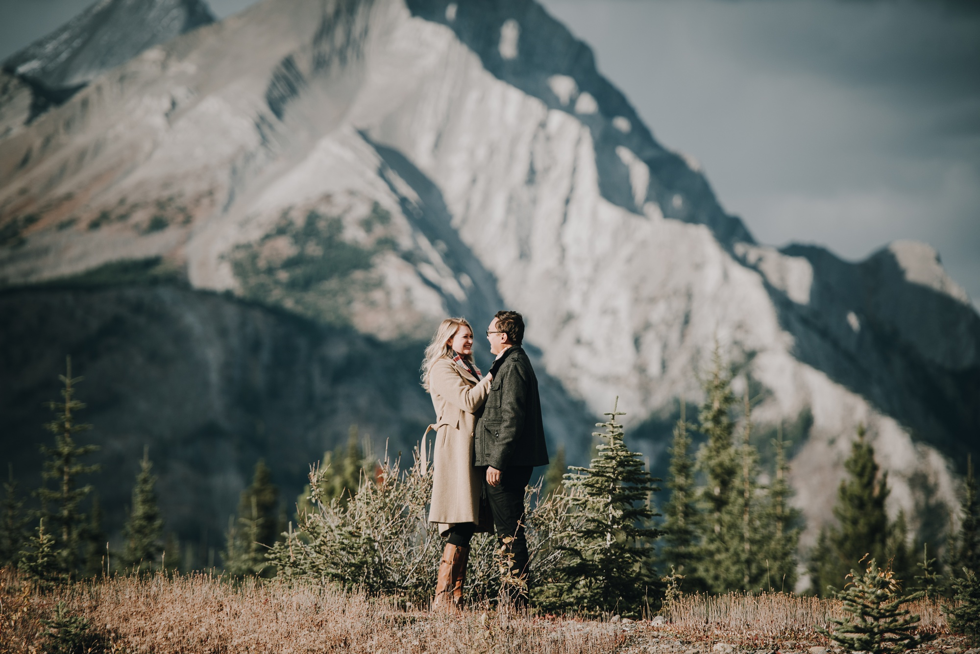 engagement session with bride and groom in Kananaskis engagement session