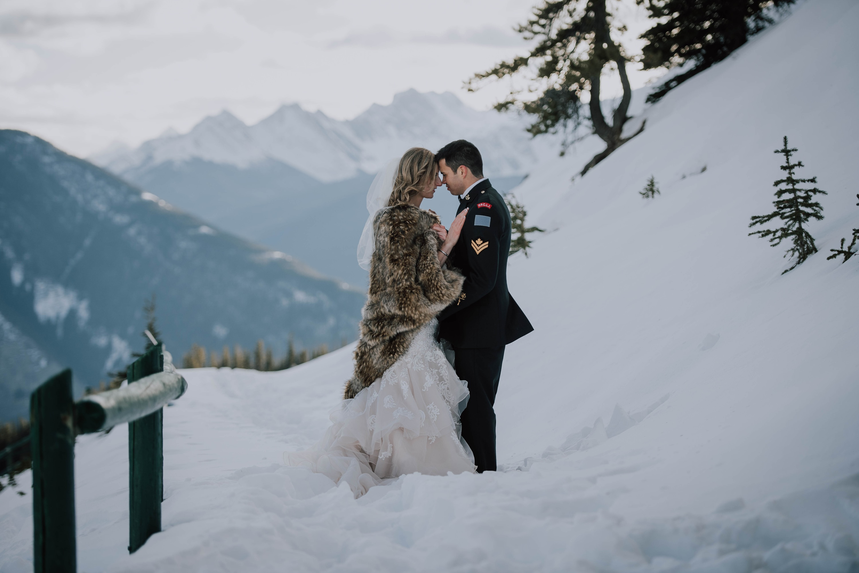 Norquay winter wedding