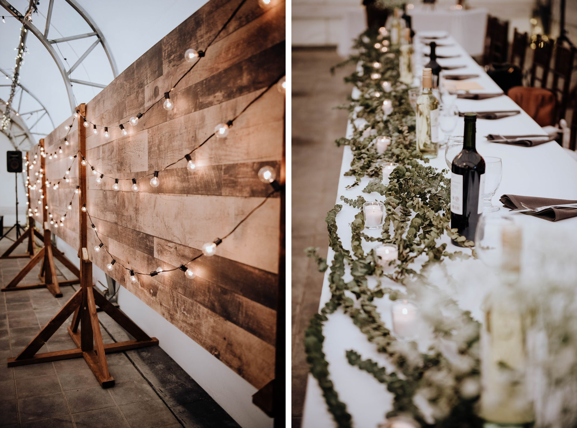 detail shots of beautiful decor at Calgary golf club wedding captured by Calgary wedding photographer