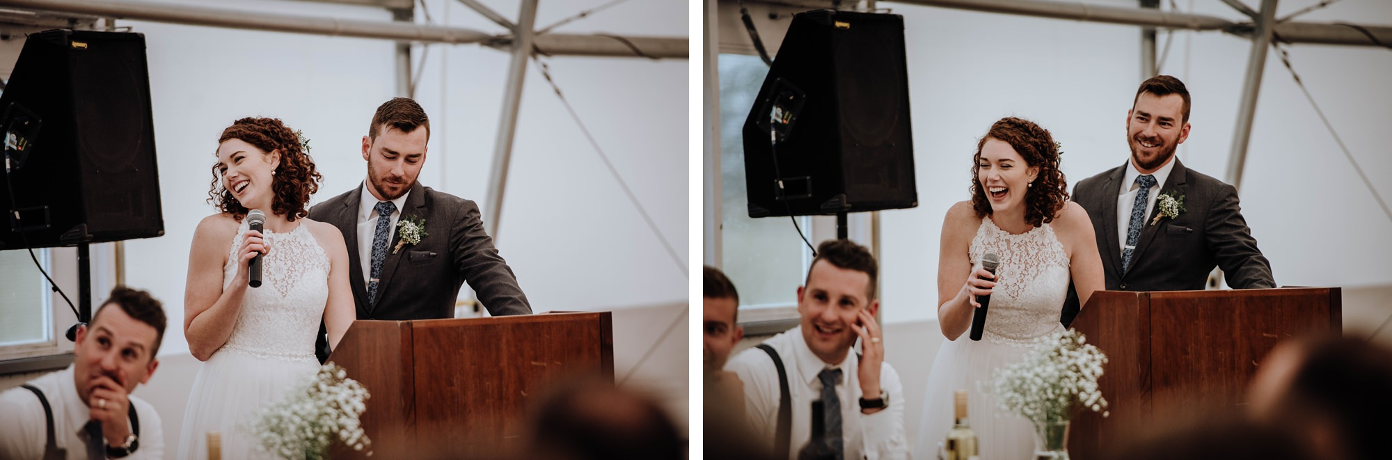 candid shots of guests at fun and romantic Indi wedding in Calgary captured at the Calgary golf and country club