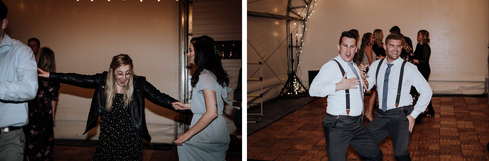 indoor ceremony for winter wedding captured at the river spirit golf course in Calgary