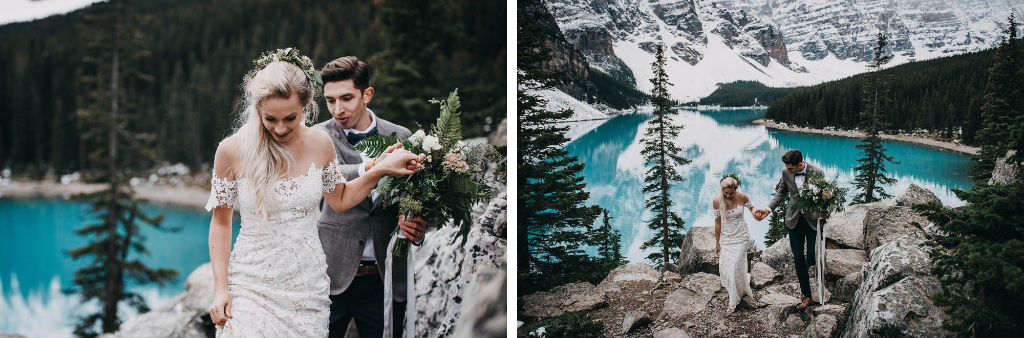 scenic adventurous mountain elopement