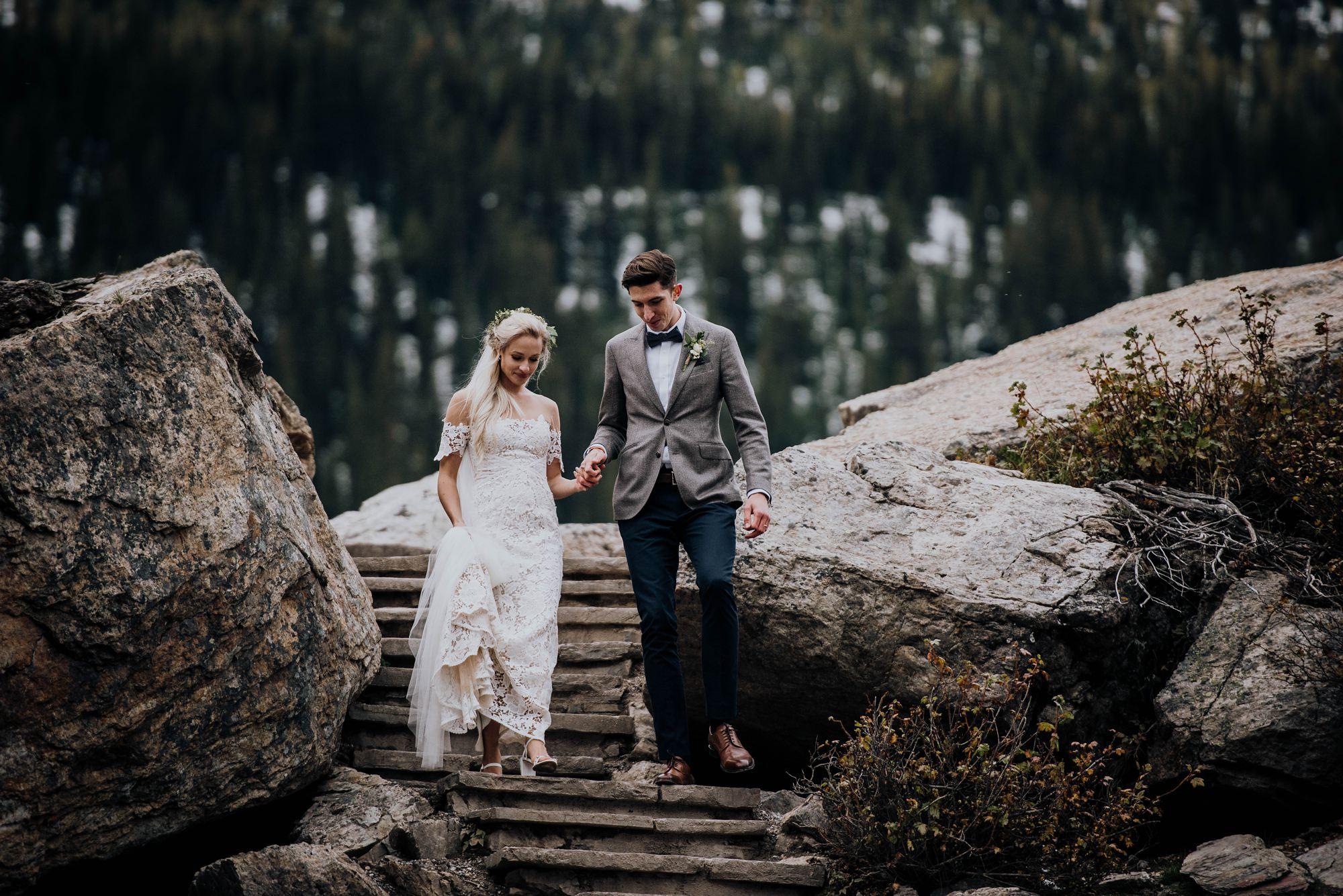 boho mountain elopement
