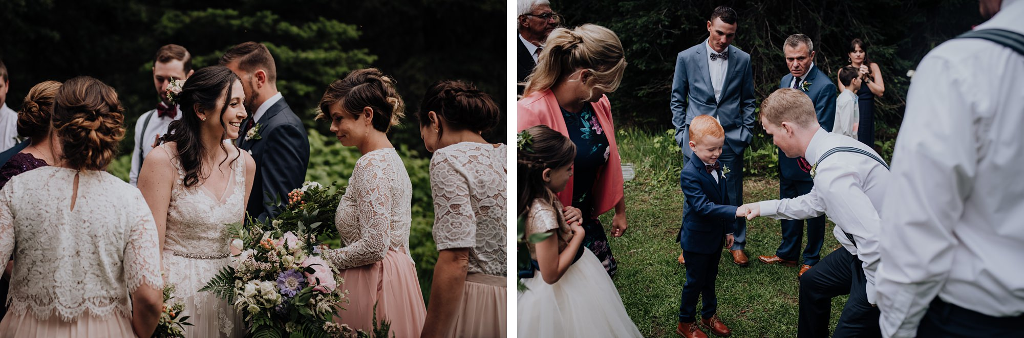 candid shots at mountain wedding