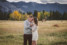 cute engagement session photos of stylish couple in love at big hill springs provincial park in Alberta Canada