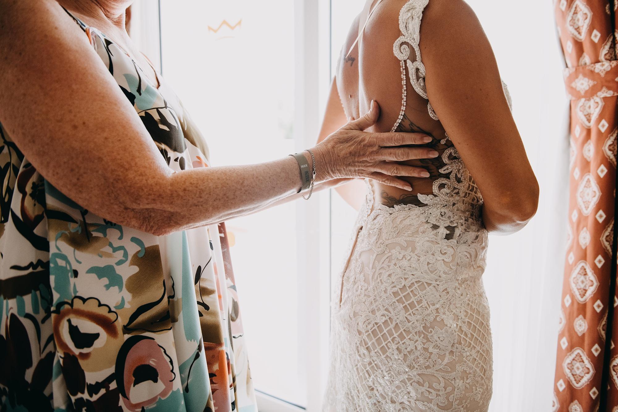wedding dress details Riu Palace playa del carmen wedding