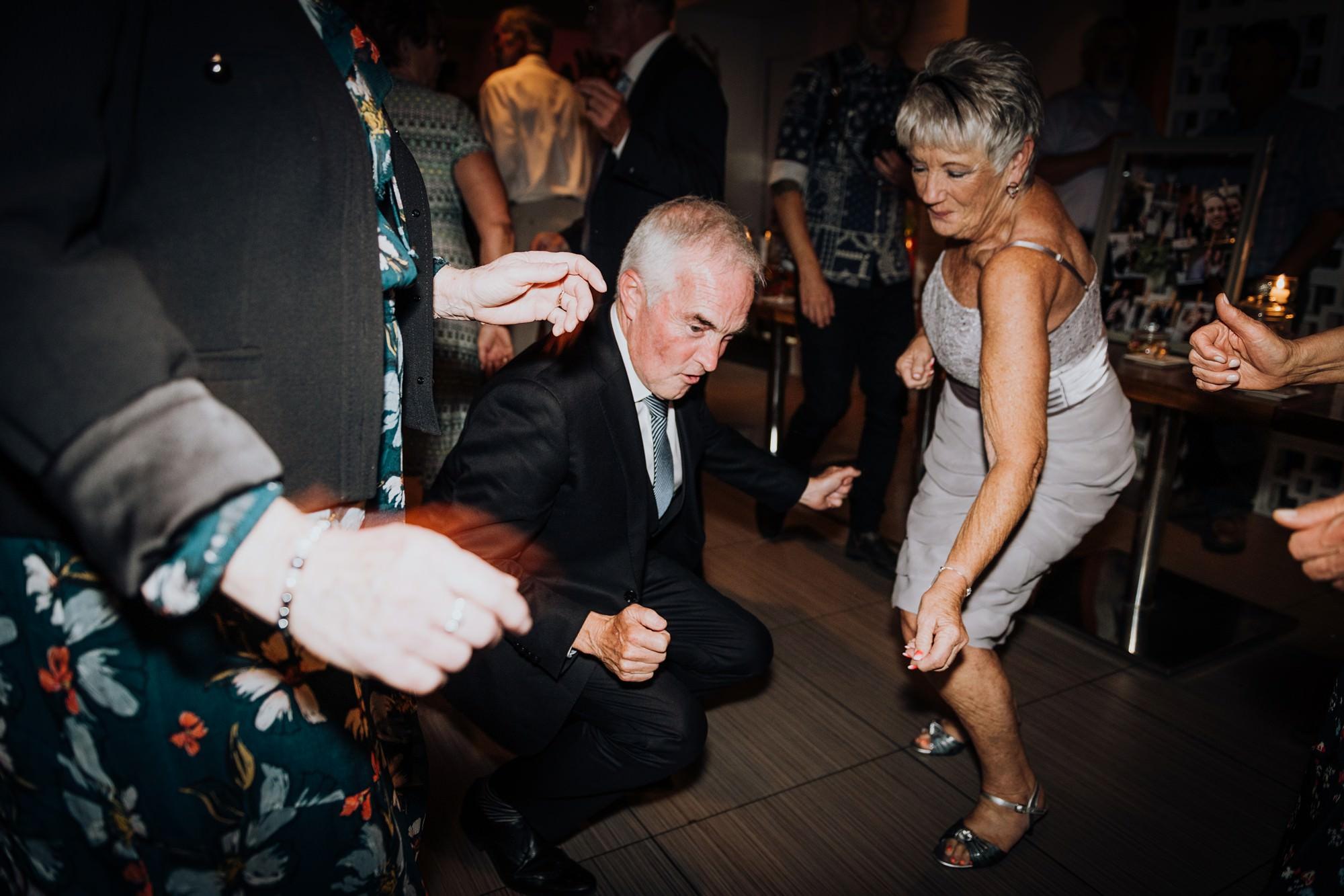 guests dance at alloy restaurant wedding
