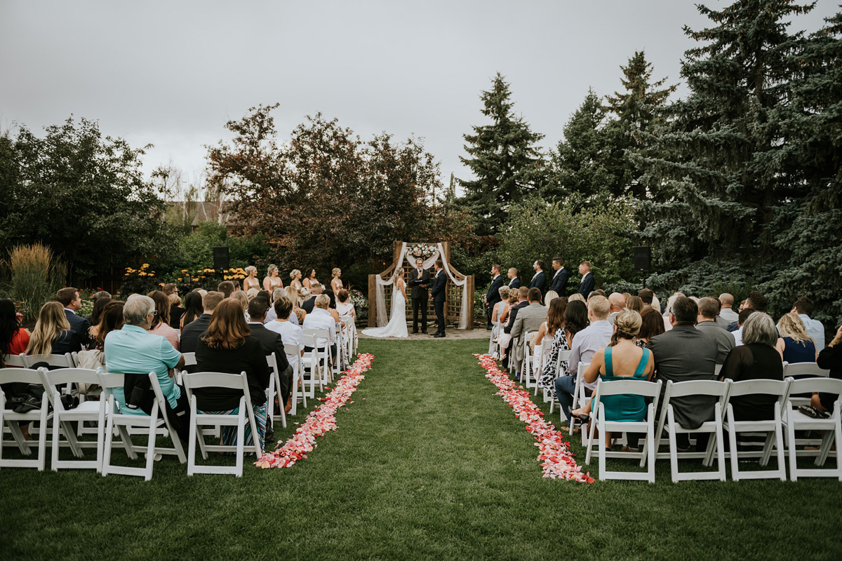 calgary zoo wedding garden ceremony