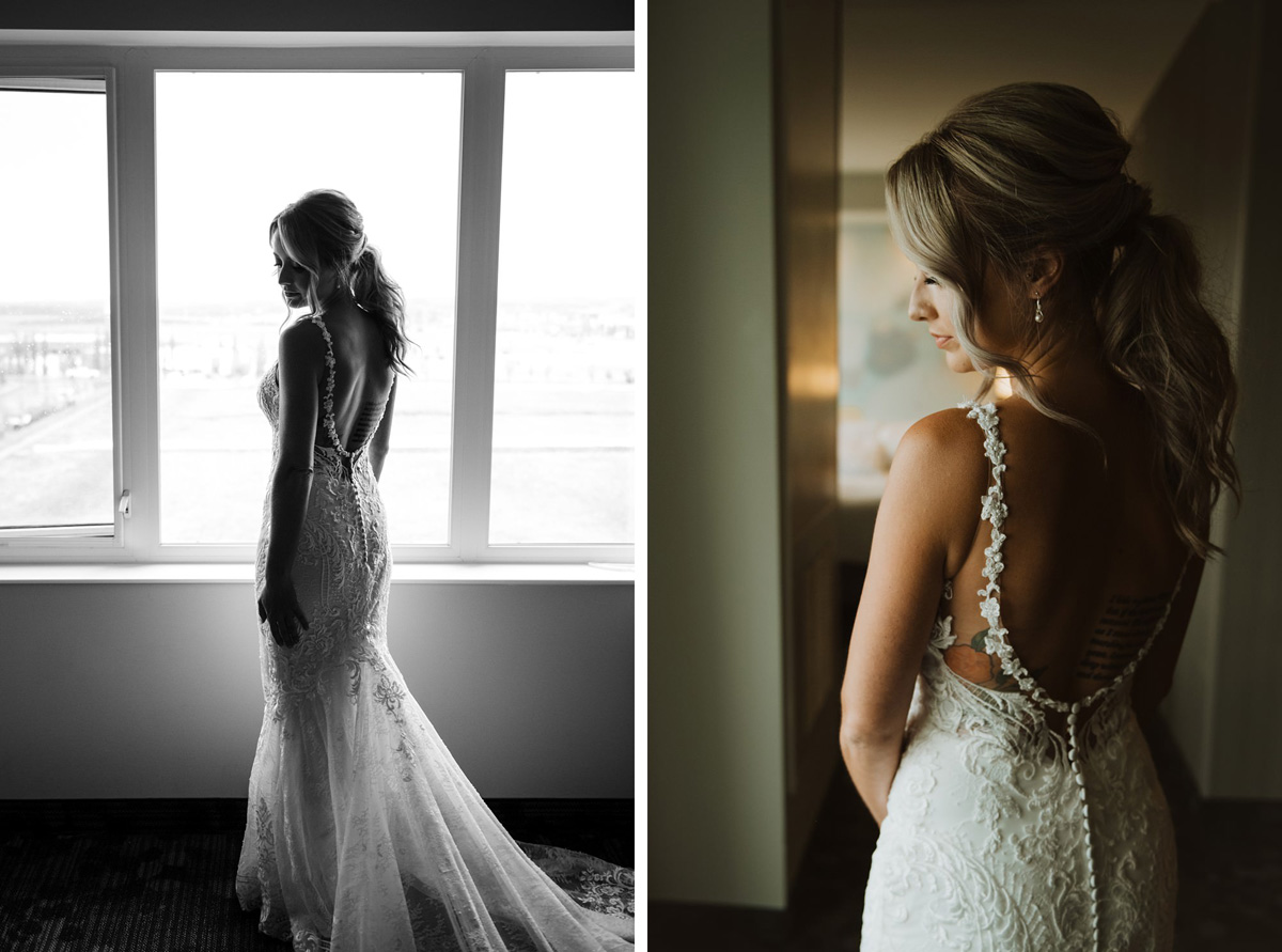 bride portraits at hyatt regency calgary hotel