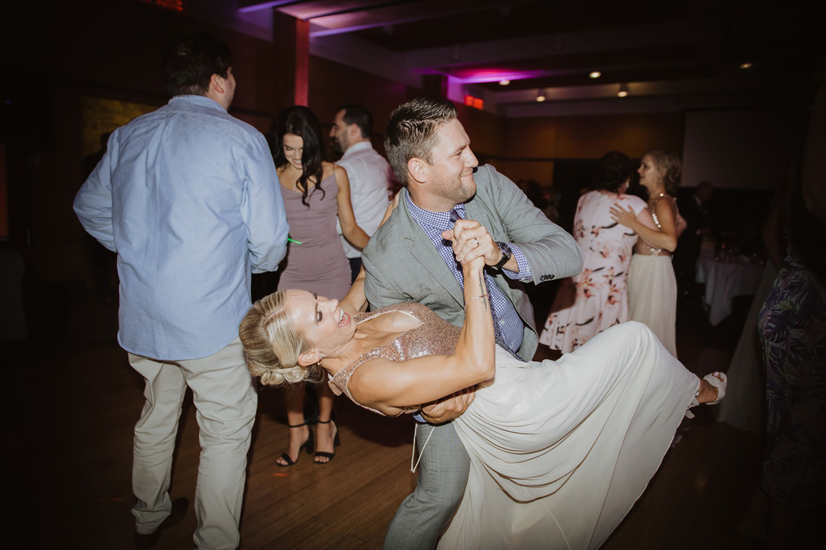 wedding guests dancing at calgary reception venue