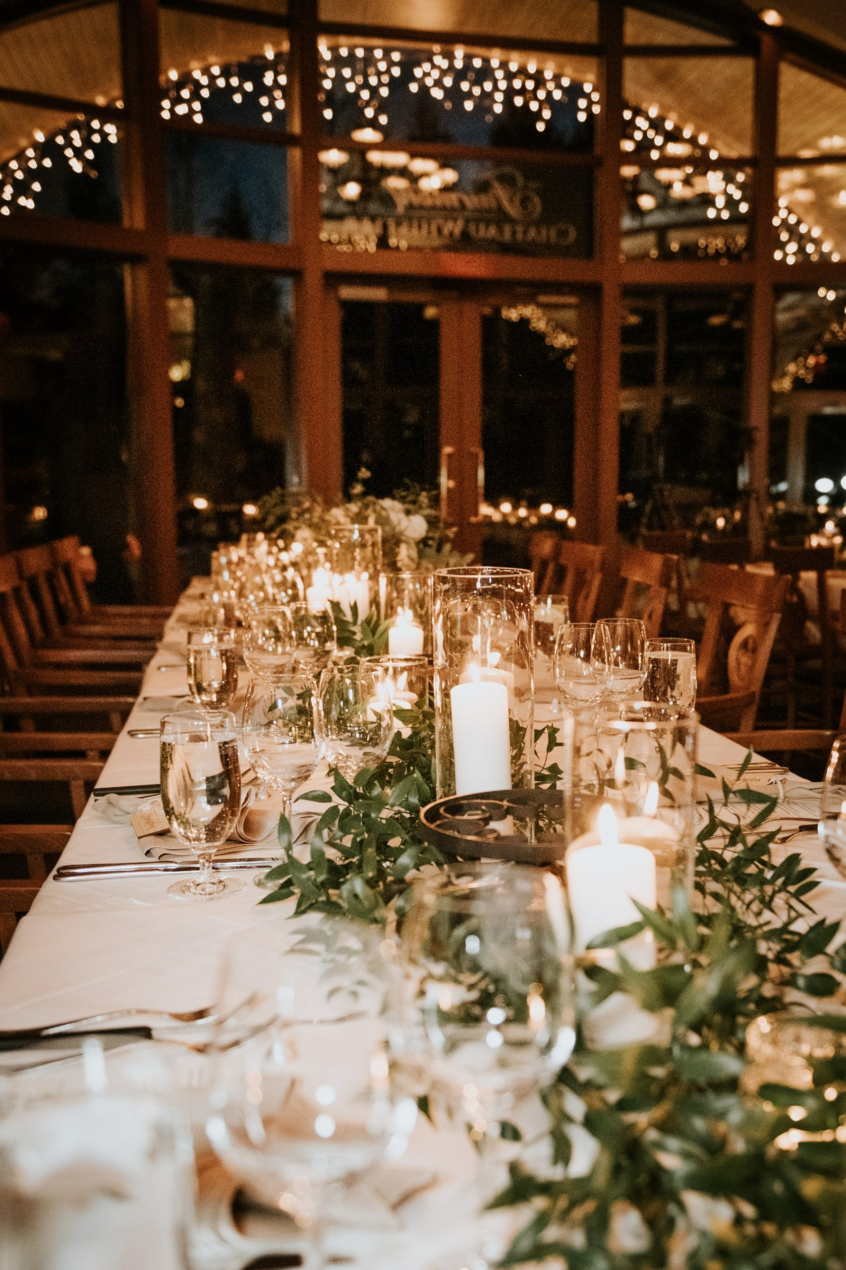wedding reception decor and decorations fairmont chateau whistler