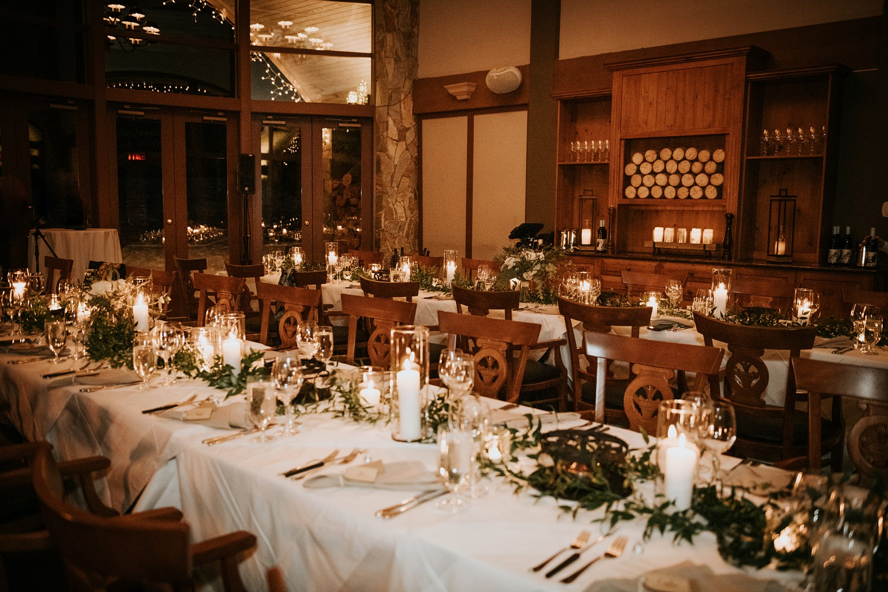 reception decor at fairmont chalet whistler