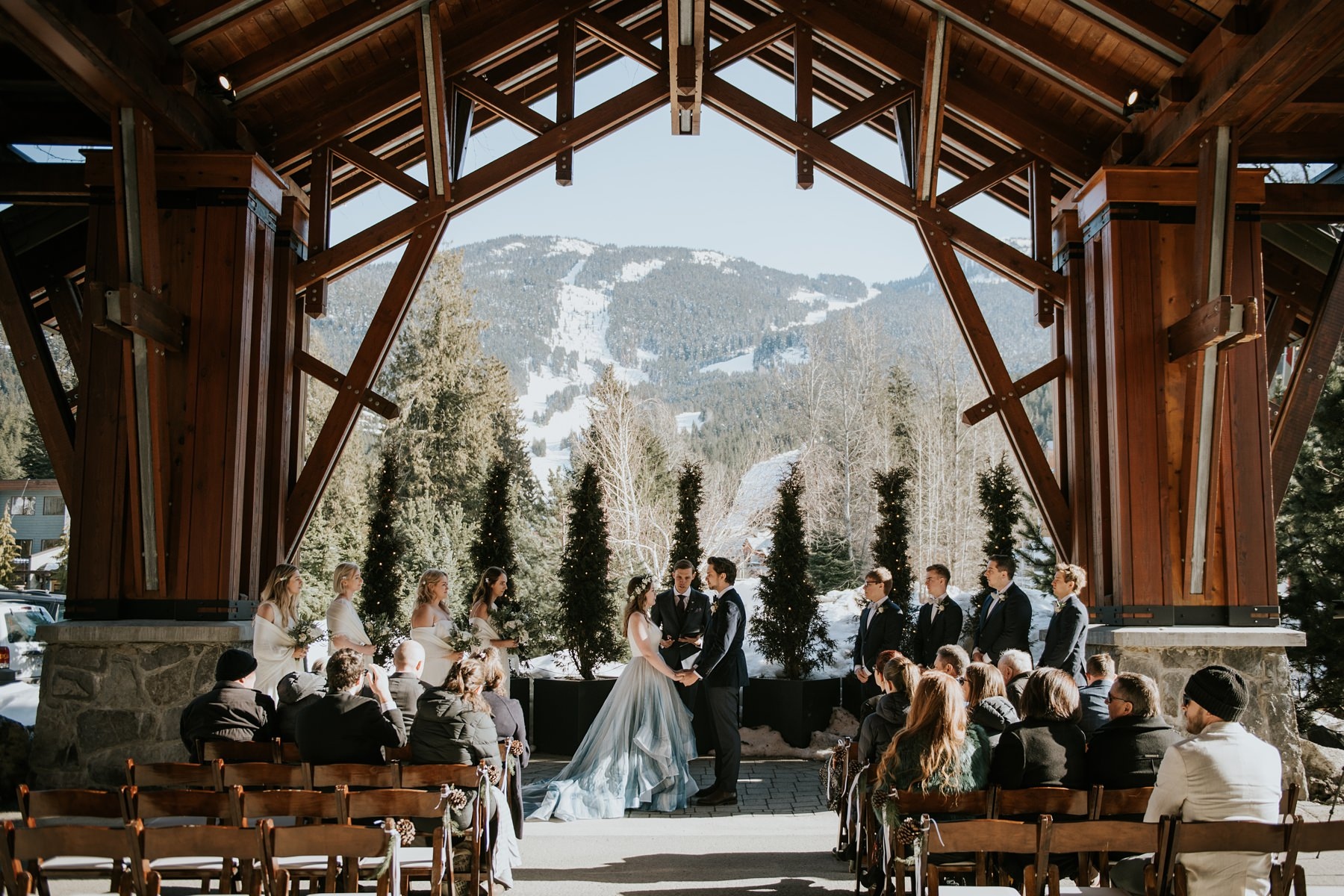 outdoor wedding ceremony at Nita lake lodge